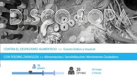 Convocatoria Reto Social Disco Sopa Zaragoza