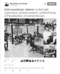 Tweet de Azucarera Las Armas