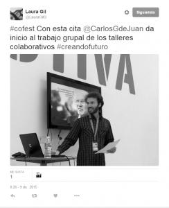 Tweet de Laura Gil