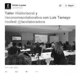 Tweet de Victor Lucea