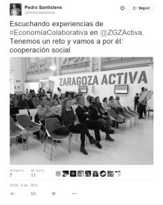 Tweet de Pedro Santisteve
