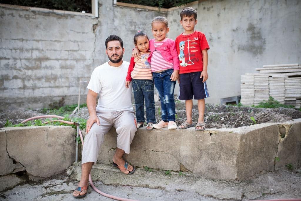 Khaled con su familia