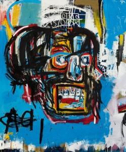 """Fig.1 : La obra """"Untitled"""" (1982), realizada por el artista estadounidense Jean-Michel Basquiat (1960-1988), vendida hace pocos días en la sala de subastas Sotheby's por 99 millones de euros. Seguro que estamos de acuerdo en que el comprador es un fan del arte."""